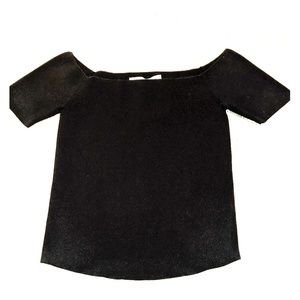 NWT Scripted off the shoulder crop top